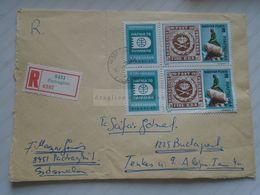 D170650  Hungary     Registered Cover  -  1977  PADRAGKÚT  -stamps Little Mermaid - Kobenhavn Danmark Denmark HAFNIA - Hungary