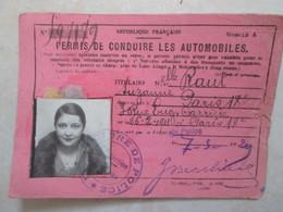 Permis De Conduire De 1929 - Voitures