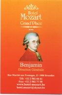 Carte (de Visite) : Hotel Mozart Grand' Place Bruxelles Belgique - Cartes D'hotel