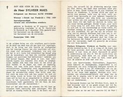 Bidprent / Zevekote / Gistel / Sylveer Maes / 1966 - Devotieprenten