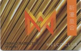 Carte De Casino à Macau Macao : Melco Club (City Of Dreams + Studio City + Altira) PLIÉE BENT - Cartes De Casino