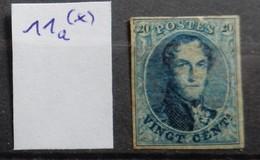 Belgium 1861  COB Nr11a  Regummed +455€ - 1858-1862 Medallions (9/12)
