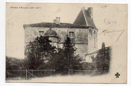 Près Saintes -- ECOYEUX --1904--Chateau D'Ecoyeux .....carte Précurseur...........à Saisir - France