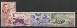 AOF - 1947 - Poste Aérienne PA N°Yv. 11 à 14 - Série Complète - Non Dentelé / Imperf. - Neuf Luxe ** / MNH / Postfrisch - Avions