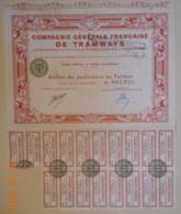ACTION De La Cie Générale Française De TRAMWAYS - Transports