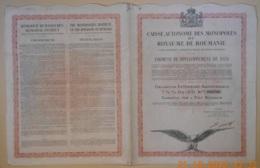 OBLIGATION CAISSE Des MONOPOLES Du ROYAUME De ROUMANIE De 1931 - Actions & Titres