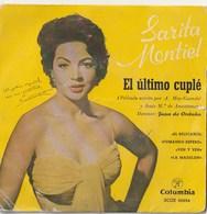 Disco Vinilo. 45 T. Sarita Montiel. El Ultimo Cuplé.  Condición Media. - Vinyl-Schallplatten