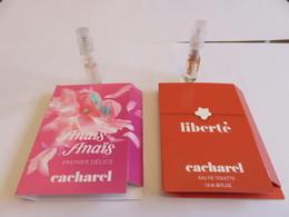 Echantillon ,tube Sur Carton Cacharel - Echantillons (tubes Sur Carte)