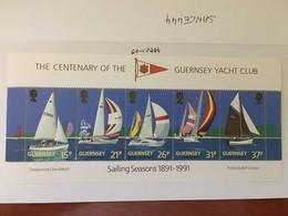 Guernsey Yacht Club S/s Mnh 1991 - Guernsey