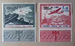 FRANCIA 1941 L.V.F SOVRASTAMPATO - Nuovi