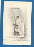 Menu Souvenir De 1ère Communion Solennelle 1955 Communiante Prie Dieu Bon état - Menu