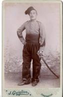 Constantine C.1890 Militaire 3e Régiment De Zouaves Chasseurs D'afrique Tirailleurs Algerie Photo Cdv Zouave Avec Sabre - Guerre, Militaire