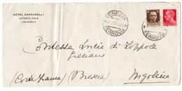 IZ21   Regno 1934 HOTEL DARDANELLI Lido-Venezia Lettera Per Nigoline - Cortefranca - Marcofilía