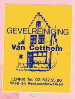 Sticker - Gevelreiniging VAN COTTHEM - LENNIK - Autocollants