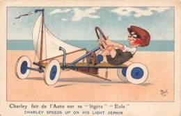 """Charley Fait De L'Auto Sur Sa """"légère"""" """"Eole"""" - Cartes Postales"""
