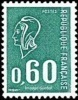 France N° 1815 ** Marianne De Béquet - 60c Vert - Taille Douce - Neufs