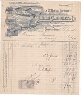 77 Succursale à VILLENOY Près MEAUX - Facture Illustrée (1910) Henri CHOQUET - Pour Francourt à OISSERY - Villenoy