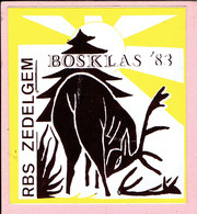 Sticker - BOSKLAS 1983 - RBS - ZEDELGEM - Autocollants