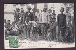 CPA Laos Circulé Types - Laos