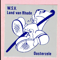 Sticker - W.S.V. Land Van Rhode - Oosterzele - Autocollants