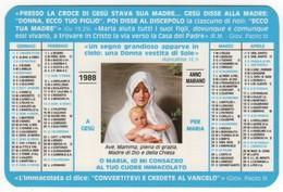Calendario 1988 Santino GAM Gioventù Ardente Mariana - Calendriers