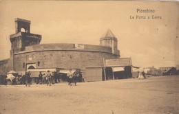 PIOMBINO-LIVORNO-LA PORTA A TERRA-CARTOLINA NON VIAGGIATA -ANNO 1910-1920 - Livorno