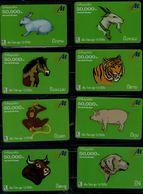 THAILAND  2005 PHONECARD ZODIAC SET OF 8 USED VF!! - Zodiaco