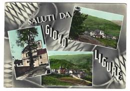 3134 - SALUTI DA GIOVO LIGURE SAVONA 3 VEDUTE 1960 CIRCA - Italia