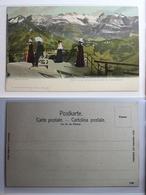 AK Stanserhorn Blick Von Der Terrasse Nach Den Wallerstöcken Ungebraucht #PB918 - OW Obwalden