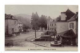 Mauleon- Licharre. Place De La Liberté.Cachet Convoyeur Mauleon A Aramits.1906. - Mauleon Licharre