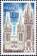 France Poste N** Yv:1808 Mi 1902 Yv:0,65 Euro Saint Pol-de-Leon Cathédrale ND Du Kreisker (Thème) - Chiese E Cattedrali
