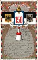 ! Regimentskarte Allenstein, 1. Ermländisches Infanterie-Regiment Nr.150, Wappen, Militaria, Steinbach + Strache Dresden - Pologne