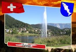 Postcard, REPRODUCTION, Municipalities Of Switzerland, Laax - Landkarten