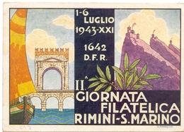 GIORNATA FILATELICA RIMINI S. MARINO 1942  (FEB200055) - Esposizioni Filateliche