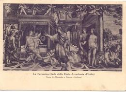 ACCADEMIA D'ITALIA ROMA  LA FARNESINA POST CARD   (FEB200067) - Enseignement, Ecoles Et Universités