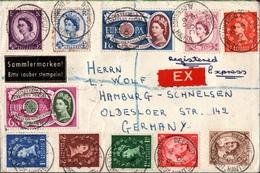 ! 1960 Expres Registered Cover Deepcut To Hamburg, Europa Marken, Großbritannien - 1952-.... (Elizabeth II)