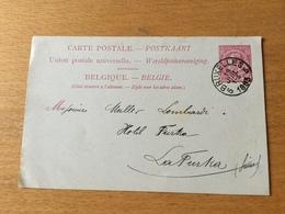 SCHW995 Belgien Ganzsache Stationery Entier Postal P 27 Von Brüssel Nach La Furka - Stamped Stationery