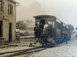 RPCP : TARN ET GARONNE-CAYLUS- GARE STATION TRAIN LOCOMOTIVE, Photo Of Old Postcard, 2 Scans - Eisenbahnen