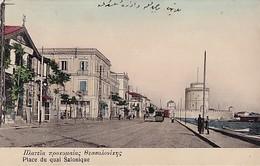 SALONIQUE    PLACE DU QUAI     .  BEL AFFRANCHISSEMENT - Griechenland