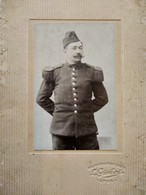 CDV Format CABINET - Militaire Du 10 ème Régiment D'infanterie - Photo Gimbert, Lyon - État Correct - Guerre, Militaire