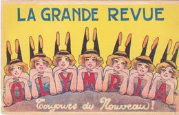 BACDEC19-  PARIS SPECTACLE  CABARET  LA GRANDE REVUE  A L'OLYMPIA   VOIR VERSO CARTE PUB 26 ABLEAUX - Cabarets