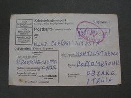 Postkarte Krieg Lagerpost , 1944  Nach Italein - Deutschland