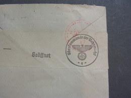 Hitler Zensur Aus Voriron Nach Heidenheim 1944 - Frankreich