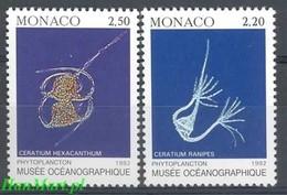 Monaco 1992 Mi 2095-2096 MNH ( ZE1 MNC2095-2096 ) - Meereswelt
