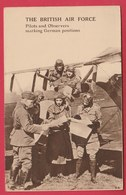 The Britisch Air Force - Pilots And Observers Marking German Positions ( Voir Verso ) - Oorlog 1914-18