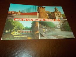 B759  Castelletto Molita Asti Saluti Non Viaggiata Macchioline Umido - Autres Villes