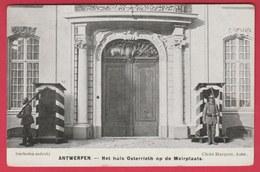 Antwerpen - Het Huis Osterrieth Op De Meirplaats .... Duitse Soldaten ( Voir Verso ) - Oorlog 1914-18
