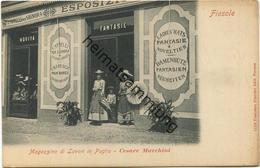Fiesole - Magazzino Di Lavori In Paglia - Strohwerklager - Werbekarte Cesare Marchini Damenhüte Cappelli Per Signora Ca. - Otras Ciudades