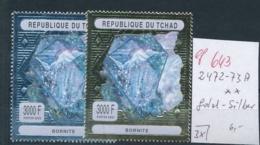 Tschad  2472-73 A Minerale  **    (ef 643  ) Siehe Scan - Mineralien