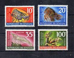 SENEGAL - 1968 - Lotto 4 Francobolli Tematica Crostacei - Nuovi ** - (FDC19742) - Senegal (1960-...)
